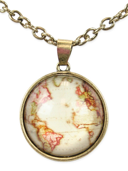 Old world map necklace gumiabroncs Gallery