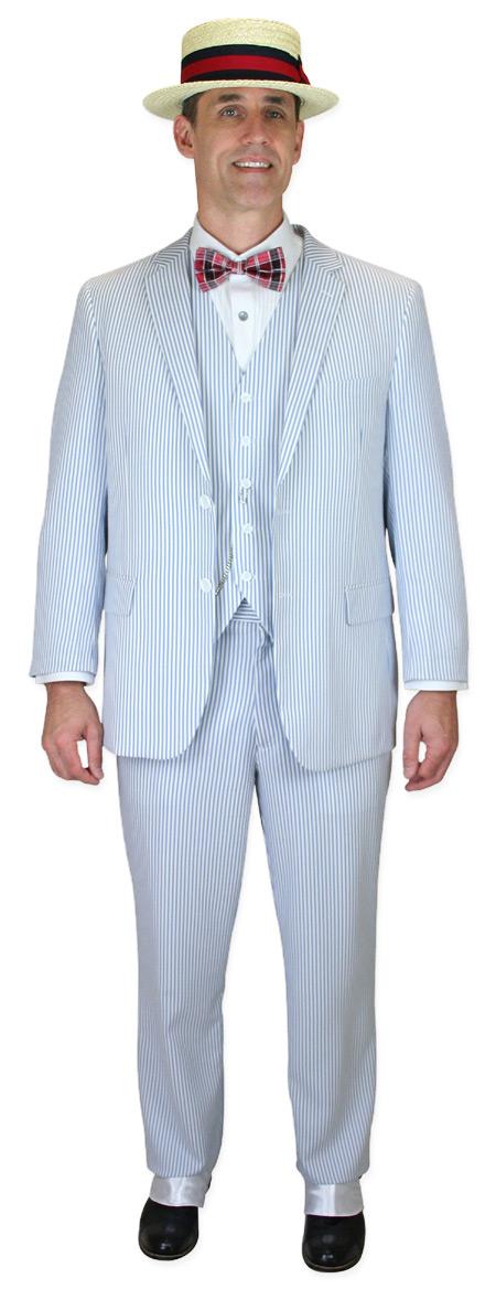 how to wear a searsucker suit