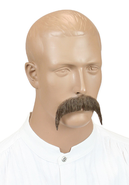 Vintage Mens Brown Natural Mustache | Romantic | Old Fashioned | Traditional | Classic || Rowdy Mustache - Brown