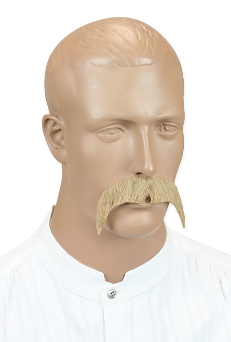 Wedding Mens Blonde Natural Mustache | Formal | Bridal | Prom | Tuxedo || Rowdy Mustache - Blonde