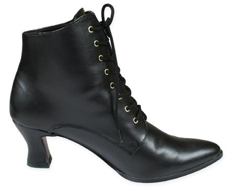 4f1ad5d8b27fb click to view click to view click to view click to view click to view click  to view. Victorian Ladies Black Faux Leather Boots ...