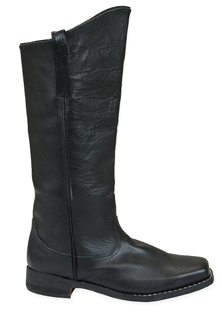 Mens Cavalry Long Boot - Black Leather