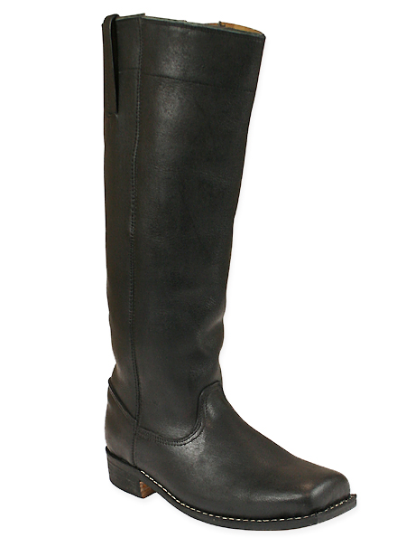 Mens Riding Long Boot - Black Leather
