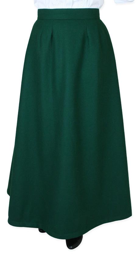 8c6582e18a75 Constance Reversible Wool Skirt - Dark Green. (4)