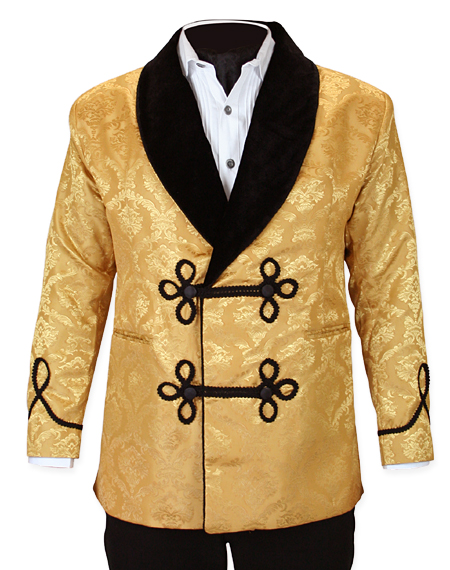 3647dbd3626 Vintage Smoking Jacket - Gold Brocade