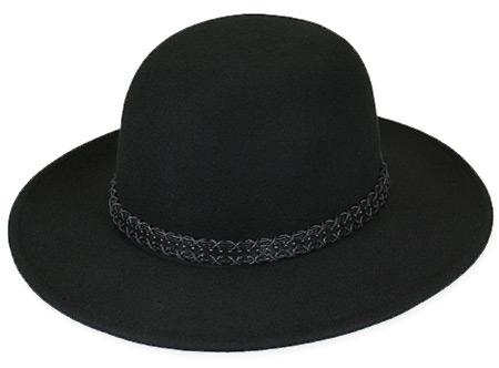 e1b87850ebda33 Steampunk Mens Black Wool Felt Wide Brim Hat | Gothic | Pirate | LARP |  Cosplay