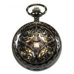 Victorian,Old West, Pocket Watches Black Alloy Mechanical Watches |Antique, Vintage, Old Fashioned, Wedding, Theatrical, Reenacting Costume |