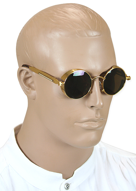 Victorian Mens Gold Alloy Sunglasse | Dickens | Downton Abbey | Edwardian || Wasteland Shades - Gold