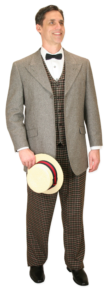 Elliott Suit - Brown Plaid