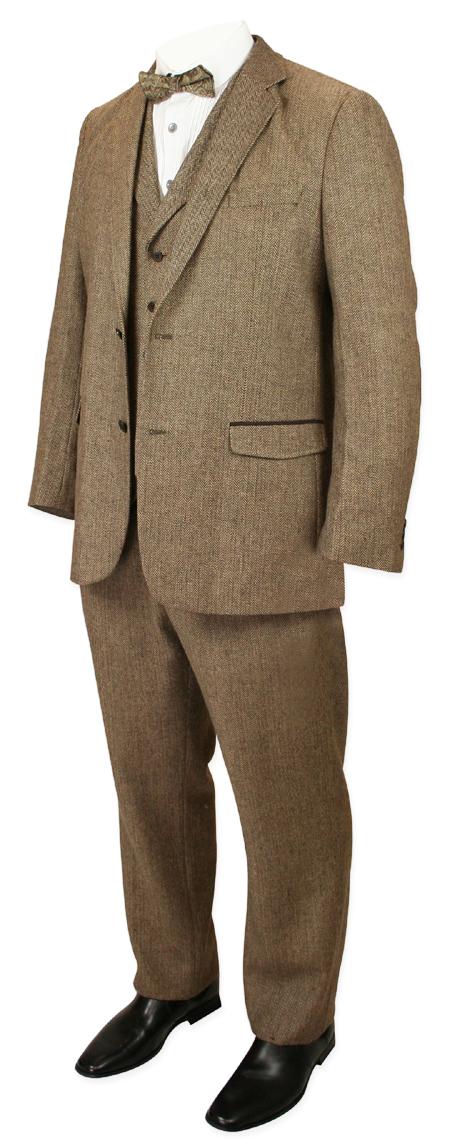 Newbury Suit - Brown Herringbone Tweed
