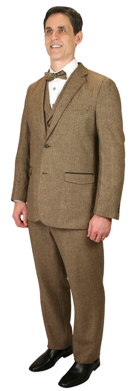 Newbury Suit - Brown Herringbone Tweed