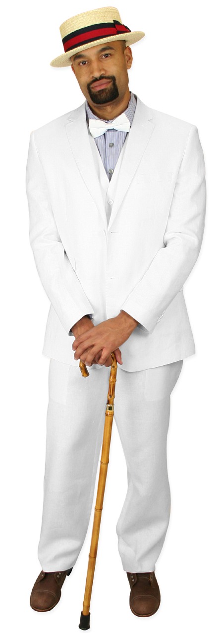Riverdale Linen Suit - White