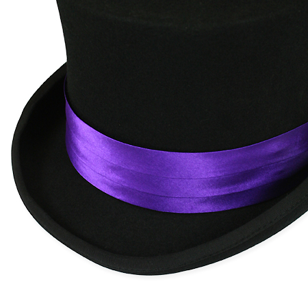 Steampunk Mens Purple Satin Hat Band  d21291f317c9