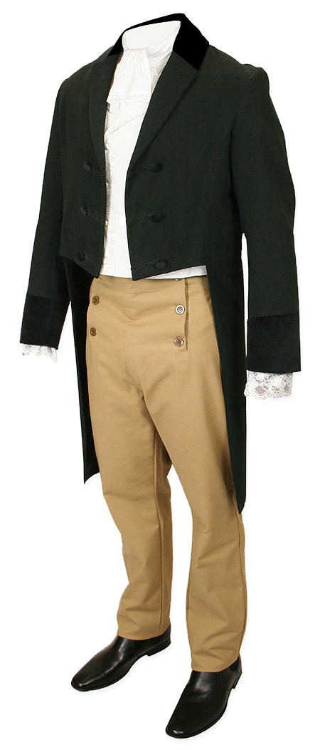 36beef764 Historical Emporium Mens Velvet Trimmed Sovereign Regency Tailcoat 006869  Clothing, Shoes & Jewelry
