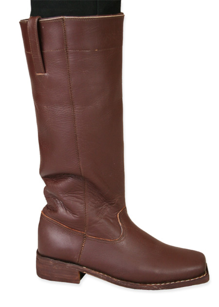 Mens Riding Long Boot - Brown Leather