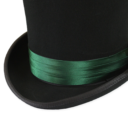 Vintage Mens Green Satin Hat Band  f0e99fd74e9