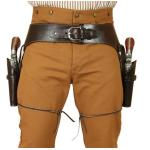 Old West, Holsters and Gunbelts Brown Leather Un-Tooled Gunbelt Holster Combos |Antique, Vintage, Old Fashioned, Wedding, Theatrical, Reenacting Costume |