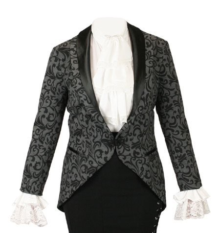 f36285e5f Historical Emporium Mens Velvet Trimmed Brocade Sovereign Regency Tailcoat  Suits & Sport Coats