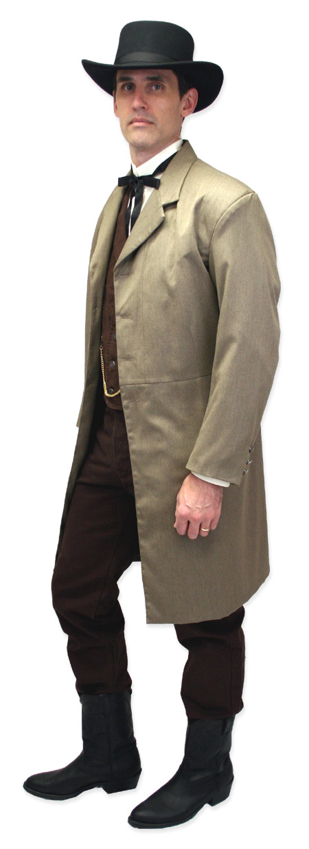 Victorian Mens Dress Shirt High Stand Collar Natural