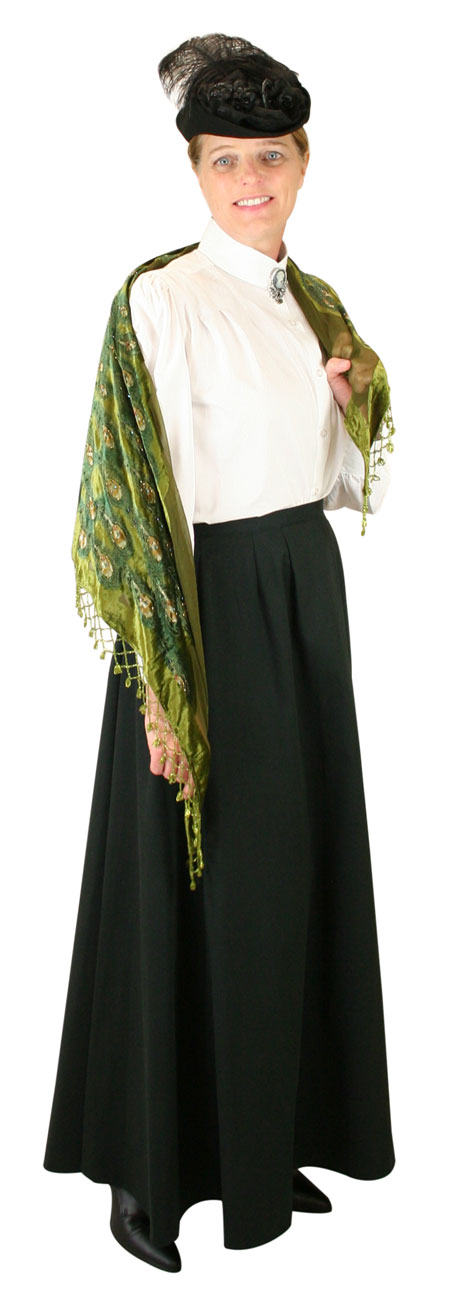 Steampunk Ladies Green Floral Shawl | Gothic | Pirate | LARP | Cosplay | Retro | Vampire || Beaded Peacock Shawl - Green