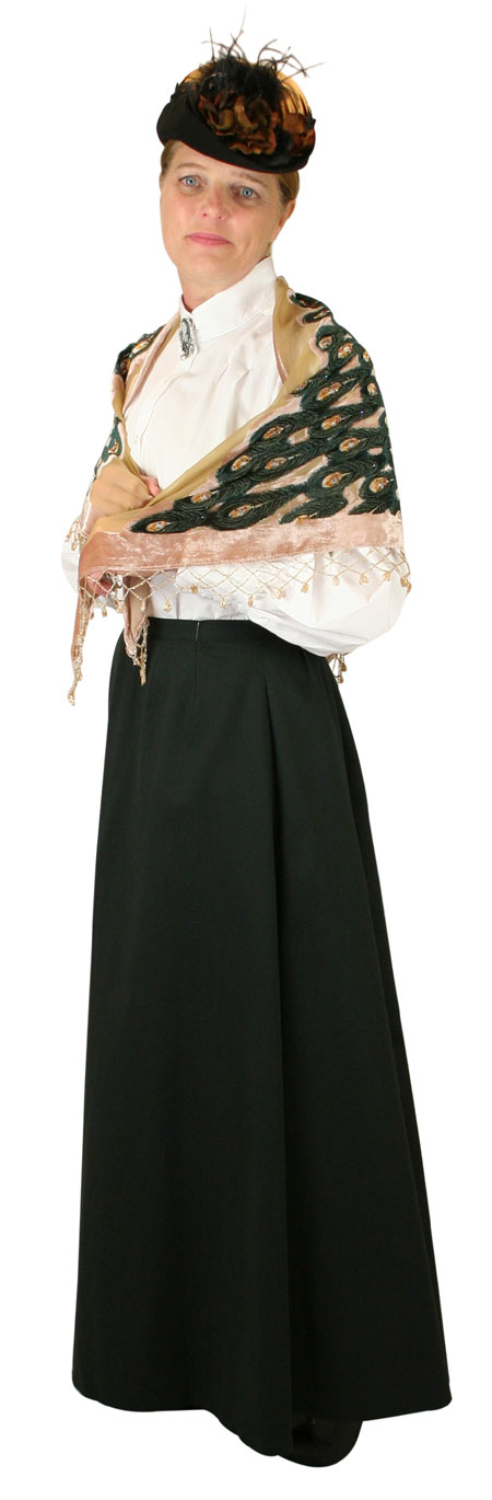 Steampunk Ladies Tan,Brown Floral Shawl | Gothic | Pirate | LARP | Cosplay | Retro | Vampire || Beaded Peacock Shawl - Beige