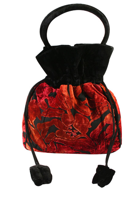 Steampunk Ladies Red Pur | Gothic | Pirate | LARP | Cosplay | Retro | Vampire || Velvet Purse - Red