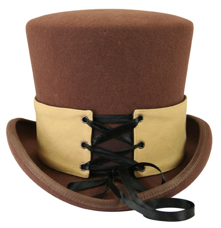 Victorian Mens Brown,Tan Cotton Spats | Dickens | Downton Abbey | Edwardian || Reversible Hat Spat (Short) - Ferndale/Wheat