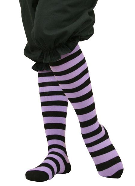 059432fff6e30 click to view click to view click to view. Wedding Ladies Purple,Black  Stripe Stockings ...