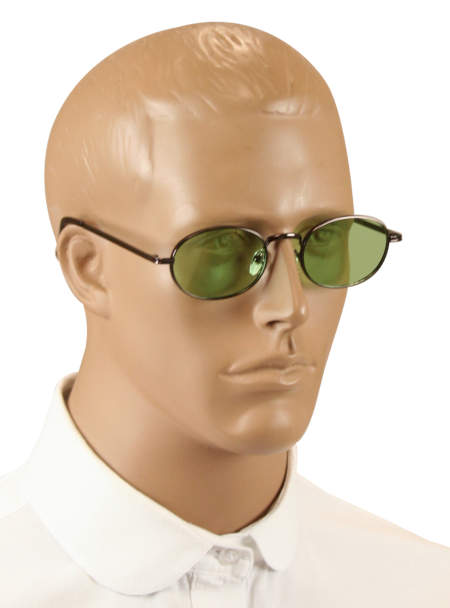 1800s Mens Alloy,Plastic Sunglas | 19th Century | Historical | Period Clothing | Theatrical || Ulysses Sunglasses - Bronze