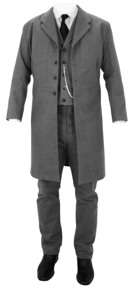 Victorian Era Frock Coat Black Wool Wahmaker Western Gentleman/'s Long Coat