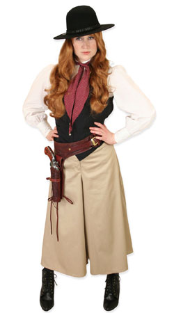 Old West, Ladies Outfits Gunslingers |Antique, Vintage, Old Fashioned, Wedding, Theatrical, Reenacting Costume |