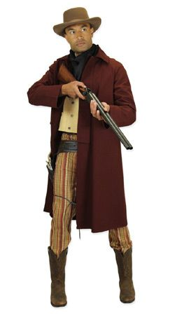 Old West, Mens Outfits Gunslingers,Frontier Folk |Antique, Vintage, Old Fashioned, Wedding, Theatrical, Reenacting Costume |