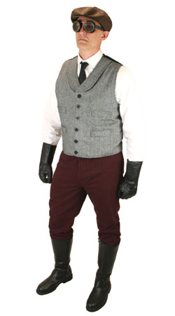 Edwardian,Steampunk Mens Outfits Motorists |Antique, Vintage, Old Fashioned, Wedding, Theatrical, Reenacting Costume | Vintage Auto Touring