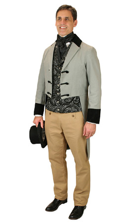 Regency Mens Outfits,Quick Ship Outfits Nobility |Antique, Vintage, Old Fashioned, Wedding, Theatrical, Reenacting Costume |