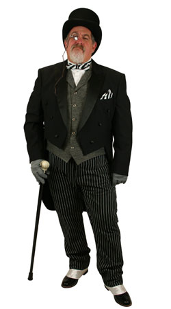 Victorian Mens Outfits Professionals,Tycoons |Antique, Vintage, Old Fashioned, Wedding, Theatrical, Reenacting Costume |