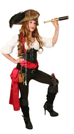Steampunk,Pirate,Hollywood Ladies Outfits Villains |Antique, Vintage, Old Fashioned, Wedding, Theatrical, Reenacting Costume | Adventurer,Pirate