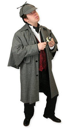 Victorian,Hollywood,Literary,Steampunk Mens Outfits Detectives and Spies,Heroes |Antique, Vintage, Old Fashioned, Wedding, Theatrical, Reenacting Costume | Sherlock Holmes,Famous Characters