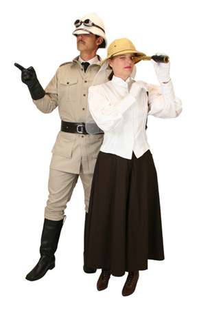 Victorian,Edwardian,Hollywood,Steampunk Group Outfits Heroes,Sheriffs and Soldiers,Adventurers |Antique, Vintage, Old Fashioned, Wedding, Theatrical, Reenacting Costume | Adventurer,Safari