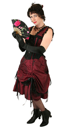 Steampunk, Ladies Outfits Saloon Staff |Antique, Vintage, Old Fashioned, Wedding, Theatrical, Reenacting Costume |