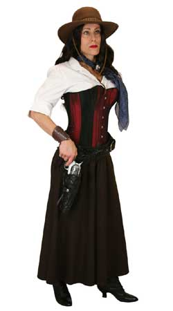 Steampunk,Old West Ladies Outfits Sherriffs and Soldiers,Gunslingers |Antique, Vintage, Old Fashioned, Wedding, Theatrical, Reenacting Costume |