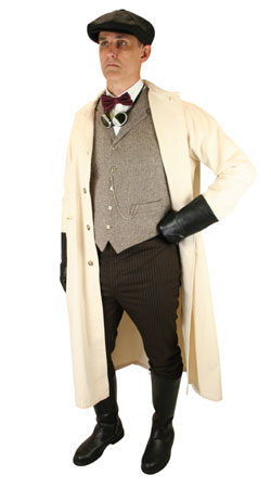 Steampunk,Edwardian, Mens Outfits Motorists |Antique, Vintage, Old Fashioned, Wedding, Theatrical, Reenacting Costume | Vintage Auto Touring