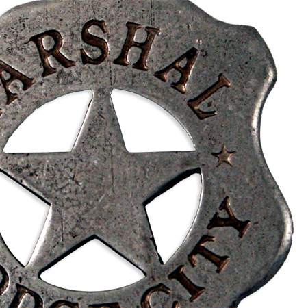 Mens Old West Lawman Badges